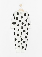 Pyjamas med store prikker Svart
