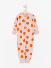 Pyjamas med store prikker Rosa