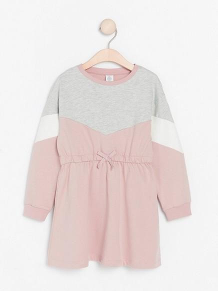 Růžové mikinové šaty Růžová