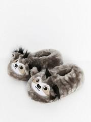 Fluffiga sengångartofflor Brun