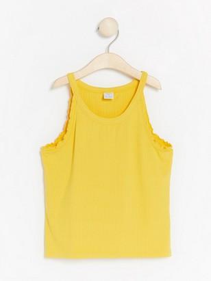 Yellow ribbed tank top Yellow