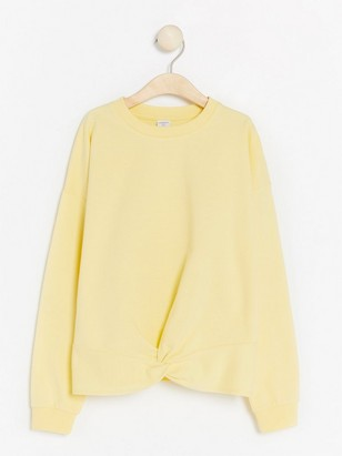 Light yellow sweatshirt with twisted detail Yellow