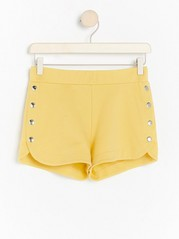 Yellow shorts with buttons  Yellow