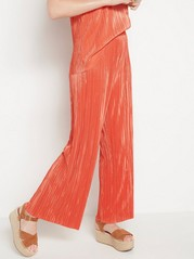 Pleated wide trousers  Orange