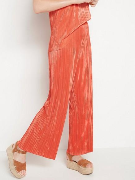 Plisserte vide bukser Oransje