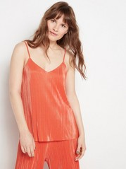 Plisserat linne  Orange