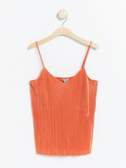Pleated camisole  Orange