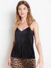 Pleated camisole  Black