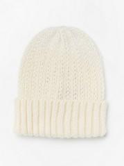 Pletená čepice Bílá