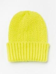 Pletená čepice Žlutá