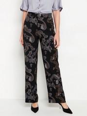 Široké kalhoty LYKKE Černá