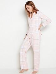 Rutete rosa pyjamassett Rosa