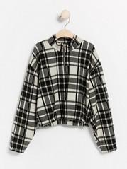Checkered jersey jumper  Black