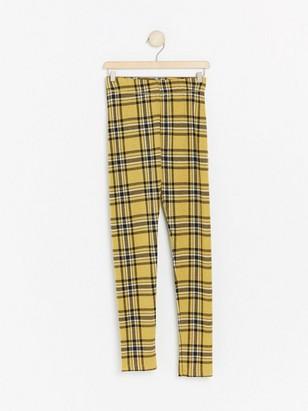 Rutete gul leggings Gul