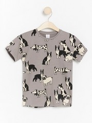 Oversized grey t-shirt with dogs Grey