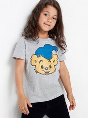 Grå T-skjorte med Bamse-trykk Grå