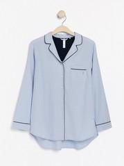Proužkovaná pyžamová košile Modrá