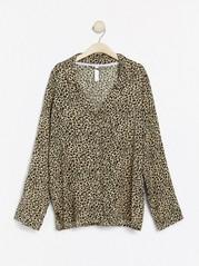 Leopardmønstret nattskjorte Beige