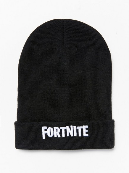 Knitted black Fortnite cap Black
