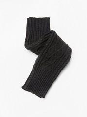 Grey knitted leg warmers Black