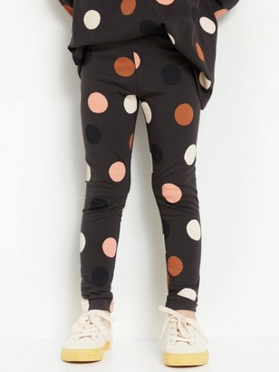 Grey leggings with dots Black