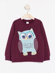 Sweatshirt with owl  Red