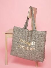 Vzorovaná nákupní taška Běžová
