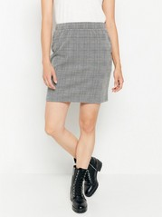 Checked jersey skirt Grey