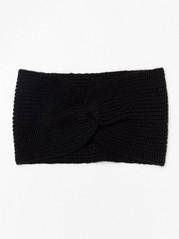 Pletená čelenka Černá