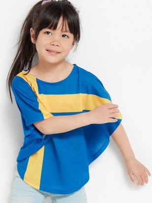 Poncho top with Swedish flag Blue