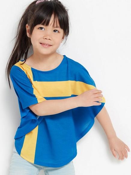 Ponchotopp med svensk flagg Blå