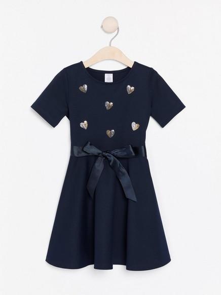 Žerzejové šaty Modrá