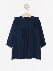 Bavlněné šaty svolánky Modrá