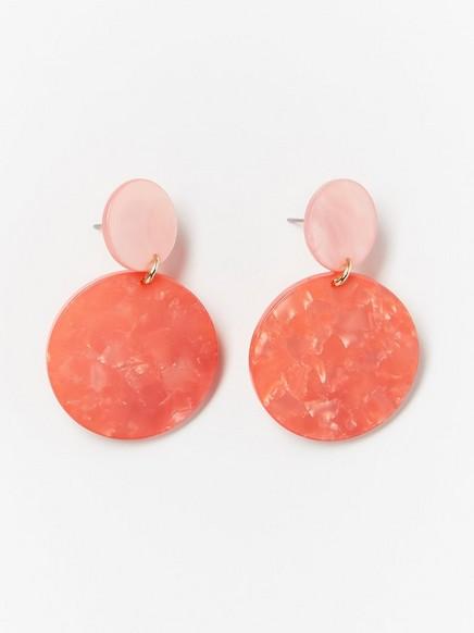 Runde øreringer Oransje