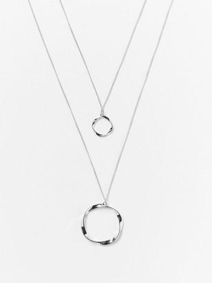 Dvouřadový náhrdelník Kovová