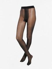 Mustat sukkahousut, joissa raita, 20 denieriä Musta