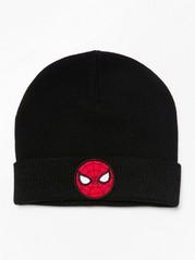 Černá čepice se Spidermanem Černá