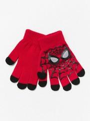 Strikkede hansker med Spider-Man-motiv Svart
