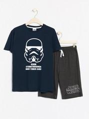 Pyjamas med Star Wars-trykk. Blå