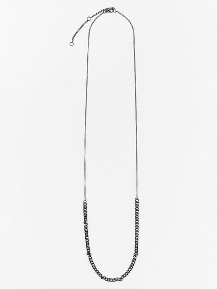 Halsband med kedja  Grå