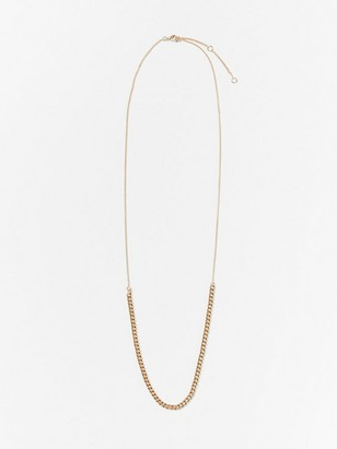Necklace with chain Yellow