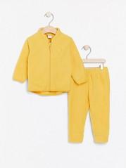 Fleecetakki ja -housut Keltainen