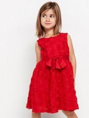 Šaty poseté květy Červená