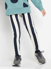 Raidalliset leggingsit, joissa harjattu sisäpuoli Sininen
