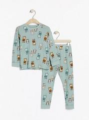 Pyžamo spotiskem Světle modrá