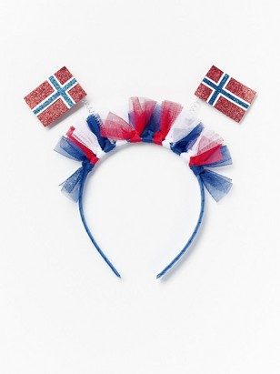 Alice band with Norway flags Red