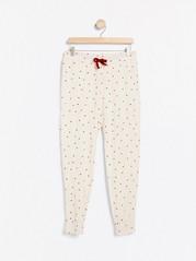Pyžamové kalhoty Běžová
