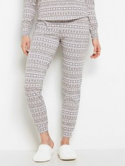 Mönstrad grå pyjamasbyxa Grå