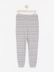 Pyžamové kalhoty se vzorem Šedivá