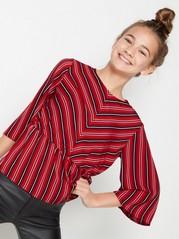 Stripete bluse Rød